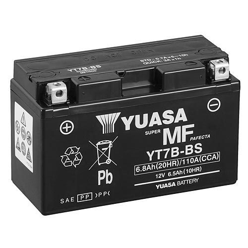 yuasa yt7b bs 12v 6 8ah powersports agm motorradbatterie. Black Bedroom Furniture Sets. Home Design Ideas