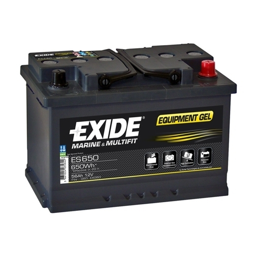 exide equipment gel es 650 12v 56ah batterie. Black Bedroom Furniture Sets. Home Design Ideas