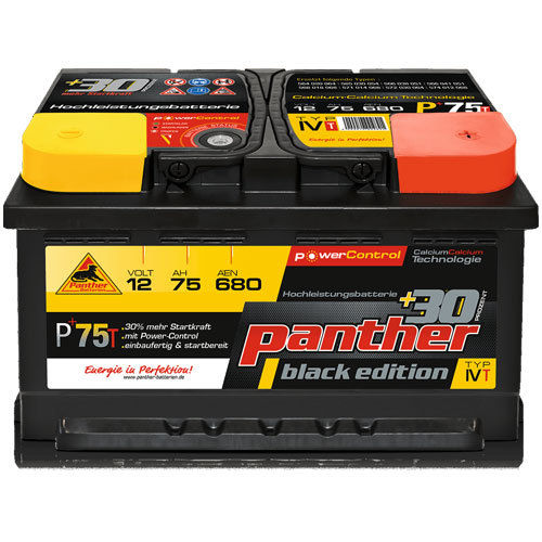 Panther P+75T Black Edition, 12V-75Ah